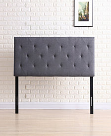 Twin-Size Upholstered Tufted Rectangular Headboard