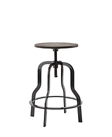 Swiveling Adjustable Seat, Metal Bar Stool
