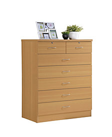 7-Drawer Chest with Locks on 2-Top Drawers in Beech