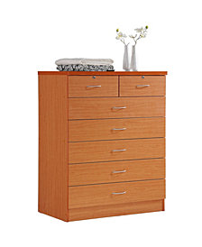 7-Drawer Chest with Locks on 2-Top Drawers in Cherry