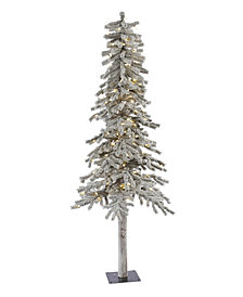 Vickerman 6' Flocked Alpine Artificial Christmas Tree with 200 Warm White LED Lights