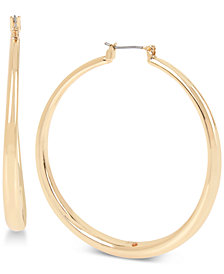 Robert Lee Morris Soho Gold-Tone Hoop Earrings