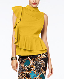 Thalia Sodi Ruffled Peplum Top, Created for Macy's