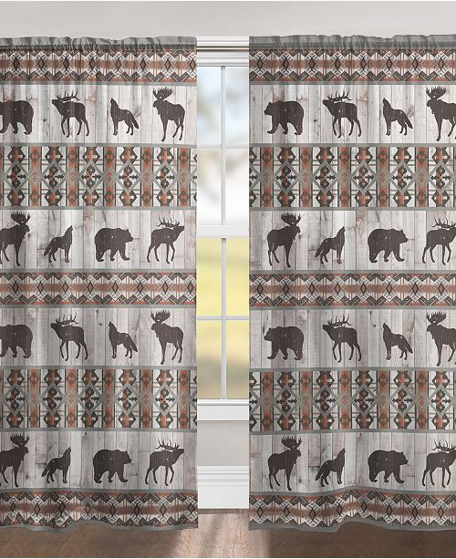 "Laural Home Southwest Lodge 84"" Black Out Window Curtain"