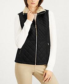 Calvin Klein Quilted Faux-Fur Vest