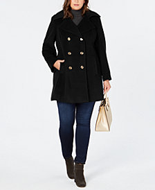 MICHAEL Michael Kors Plus Size Double-Breasted Peacoat