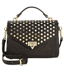 I.N.C. Jessa Studded Top-Handle Crossbody, Created for Macy's