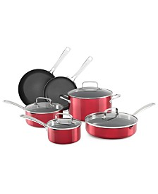 KitchenAid® Architect® 10-Pc. Non-Stick Pour & Strain Cookware Set, Created for Macy's