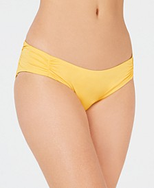 Under The Sun Shirred Bikini Bottoms