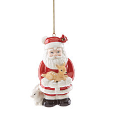 Lenox Woodland Santa Ornament