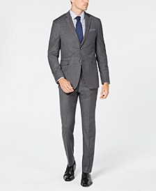 Men's Slim-Fit Stretch Sharkskin Solid Suit Separates