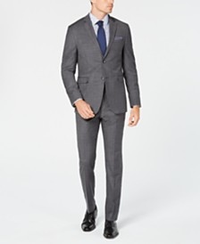 Original Penguin Men's Slim-Fit Stretch Sharkskin Solid Suit Separates