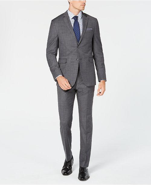 Original Penguin Men's Slim-Fit Stretch Sharkskin Solid Suit Separates