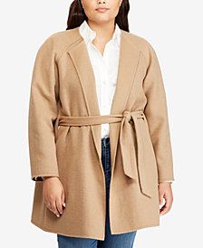 Lauren Ralph Lauren Plus Size Belted Coat