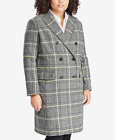 Lauren Ralph Lauren Plus Size Plaid Trench Coat