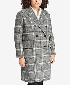 Lauren Ralph Lauren Plus Size Plaid Trench Coat