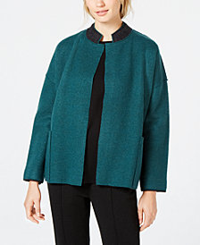 Eileen Fisher Wool Stand-Collar Jacket, Created for Macy's