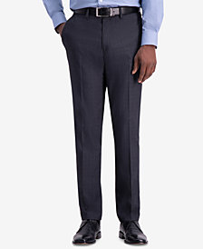 Kenneth Cole Reaction Men's Slim-Fit Stretch Mini Glen Plaid Dress Pants