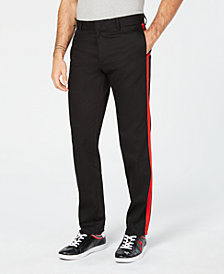 Calvin Klein Men's Exclusive Black & Red Stripe Pants