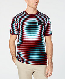 Calvin Klein Jeans Men's Striped Logo T-Shirt