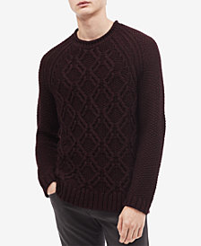Calvin Klein Men's Cable-Knit Crewneck Sweater