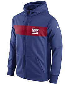 Nike Men's New York Giants Seismic Therma Full-Zip Hoodie