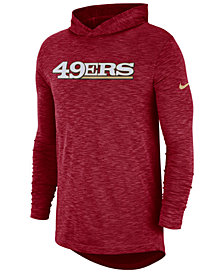 Nike Men's San Francisco 49ers Dri-Fit Cotton Slub On-Field Hooded T-Shirt