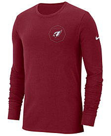 Nike Men's Arizona Cardinals Heavyweight Seal Long Sleeve T-Shirt
