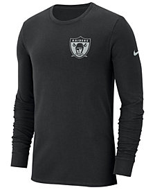 Nike Men's Oakland Raiders Heavyweight Seal Long Sleeve T-Shirt
