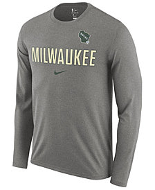 Nike Men's Milwaukee Bucks Essential Facility Long Sleeve T-Shirt