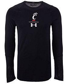 Under Armour Men's Cincinnati Bearcats Long Sleeve Raid Training T-Shirt