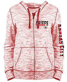 5th & Ocean Women's Kansas City Chiefs Space Dye Full-Zip Hoodie