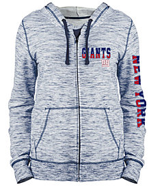 5th & Ocean Women's New York Giants Space Dye Full-Zip Hoodie