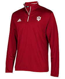 adidas Men's Indiana Hoosiers Team Iconic Quarter-Zip Pullover