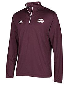 adidas Men's Mississippi State Bulldogs Team Iconic Quarter-Zip Pullover