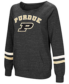 Colosseum Women's Purdue Boilermakers Off the Shoulder Fleece Sweatshirt