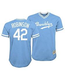 Outerstuff Jackie Robinson Brooklyn Dodgers Mesh V-Neck Player Top, Big Boys (8-20)