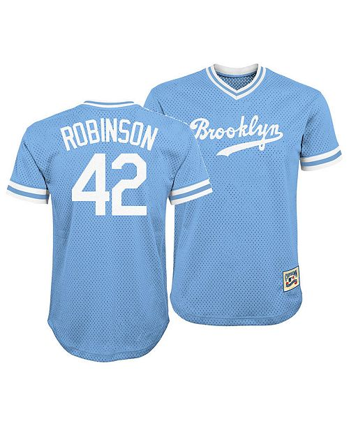buy popular 10fe8 b3317 Jackie Robinson Brooklyn Dodgers Mesh V-Neck Player Top, Big Boys (8-20)