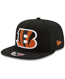 New Era Cincinnati Bengals Meshed Mix 9FIFTY Snapback Cap