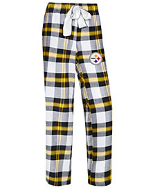Concepts Sport Women's Pittsburgh Steelers Headway Flannel Pajama Pants