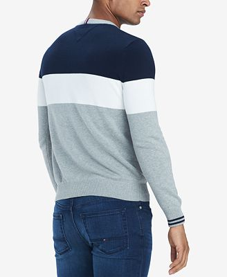Tommy Hilfiger Mens H Colorblocked Sweater Sweaters Men Macys