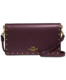 COACH Border Rivets Slim Phone Crossbody Wallet