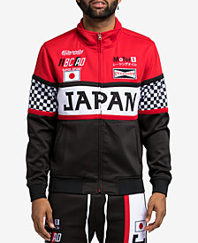 Hudson NYC Men's Japan Graphic Zip-Front Track Jacket