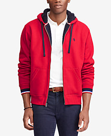 Polo Ralph Lauren Men's Big & Tall Sherpa Lined Waffle-Knit Hoodie