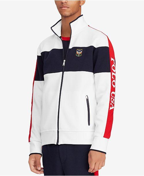 bab34e186a8 Polo Ralph Lauren Men s Double-Knit Track Jacket   Reviews - Coats ...