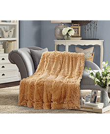Faux Fur Medium Pile Throw Blanket