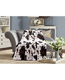 Animal Printed Double Sided Faux Fur Throw