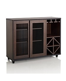 Alan Wine Rack Buffet With Casters