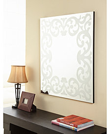 Queens Frosted Wall Mirror
