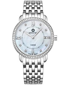 Granton Women's 'Marquise' Diamond Accented Swiss Quartz Bracelet Watch
